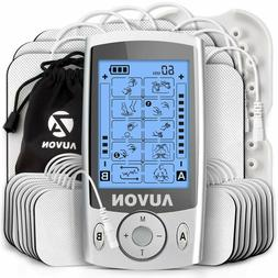 AUVON Dual Channel TENS Unit Muscle Stimulator Family Pack 2