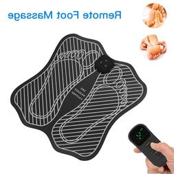Electric Foot Muscle Massage W/Remote Control Tens Mat Recha