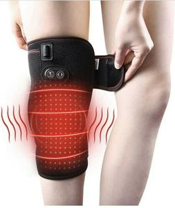 Heated Tgerapy Vibration Massager Knee Wrap for Muscle Pain