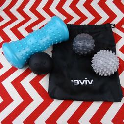 Vive Hot and Cold Muscle Massage Therapy Ball Roller Set Spi
