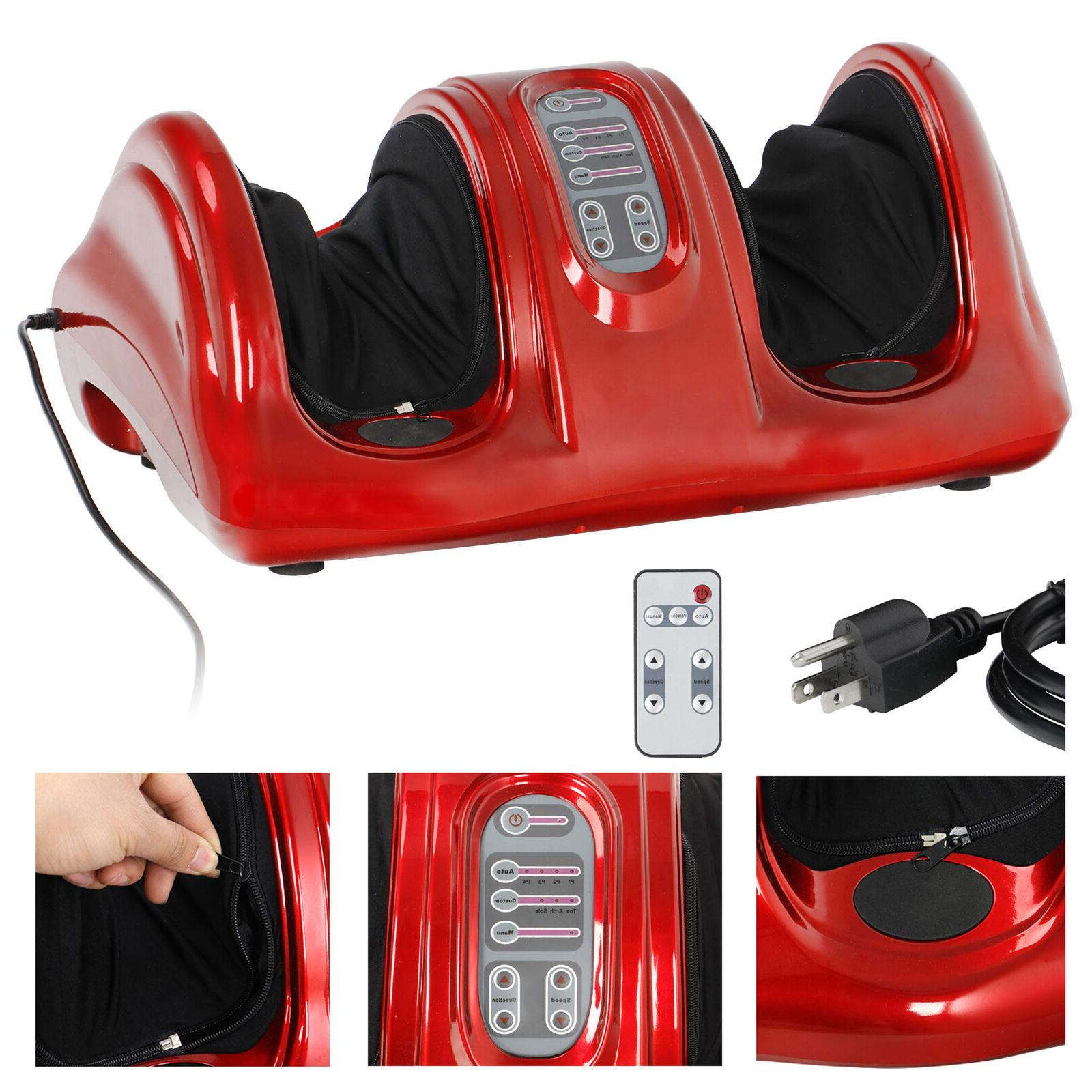 electric red relax remote massage machine ankle