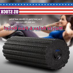 Xmas Gift Vibrating Foam Roller Massage Muscle Pain Relief M